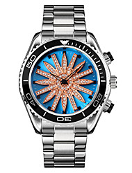 cheap -SKMEI Men's Steel Band Watches Analog Quartz Luxury Hollow Engraving Luminous LED Light / One Year / Stainless Steel
