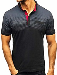 cheap -F_Gotal Polo Shirt for Mens, Men's T-Shirts Short Sleeve Big and Tall Casual Slim Short Sleeve Pockets Tees Blouse Tops