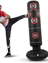 cheap -Inflatable Boxing Punching Bag for Kung Fu Martial Arts MMA Grappling Kickboxing Freestanding Flexible Empty Heavy Duty Relieves Stress Strength Training Crossfit Black