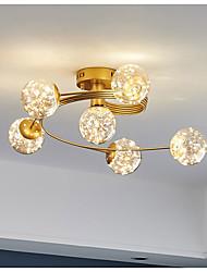 cheap -6-Light 60 cm Single Design Flush Mount Lights Metal LED Nordic Style 220-240V
