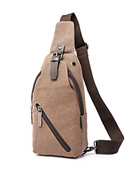 cheap -Men's Bags Canvas Sling Shoulder Bag Solid Colored Daily Outdoor Canvas Bag Black Blue Army Green Gray