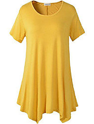 cheap -Womens Swing Tunic Tops Loose Fit Comfy Flattering T Shirt (2X, Yellow)
