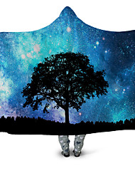 cheap -Cotton Throw Blanket Wearable Hoodie For Couch Chair Sofa Bed Lion Abstract Animals Soft Fluffy Warm Cozy Plush Autumn Winter