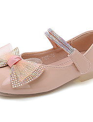 cheap -Girls' Flats Princess Shoes PU Little Kids(4-7ys) Big Kids(7years +) Daily Walking Shoes Pink Beige Spring Fall