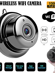 cheap -WAZA 2.1mm Lens 720P Cloud Storage WIFI Night Vision Two-way Audio Smart Indoor Home Security IP Camera Plastic Black