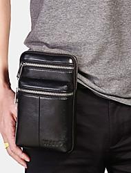 cheap -men genuine leather belt bag casual crossbody bag shoulder bag