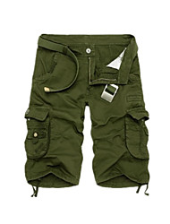 cheap -Men's Basic Outdoor Daily Tactical Cargo Pants Solid Colored Knee Length Classic Army Green Blue Khaki Dark Gray Dark Blue