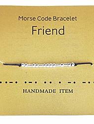 cheap -fuck off morse code simple bracelet - handmade bead adjustable bracelets inspiration friendship jewelry gift for her (friend)