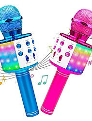 cheap -Karaoke Wireless Microphone Portable Karaoke Machine Bluetooth with LED Light Android / iPhone Compatible Plastics Boys and Girls Kids Adults 2 pcs Graduation Gifts Toy Gift