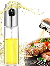cheap -Stainless Steel Olive Oil Sprayer Oil Spray Bottle Pump Glass Oil Pot Leak-proof Drops Oil Dispenser BBQ