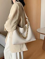 cheap -Women's Bags PU Leather Crossbody Bag Zipper Chain Plain 2021 Daily Going out White Black Yellow Green