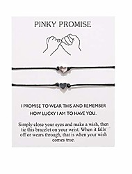 cheap -pinky promise distance matching bracelets,for couples,best friend bracelet gifts boyfriend girlfriend,him and her,women men (heart)