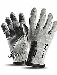 cheap -Winter Thermal Ski Gloves Windproof & Waterproof & Anti-slip Fleece Touch Screen Snowboard Gloves for Men and Women(Grey, XL)