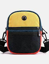 cheap -unisex corduroy retro fashion trend contrast color stitching shoulder bag crossbody bag