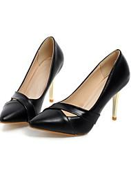 cheap -Women's Wedding Shoes Stiletto Heel Pointed Toe Wedding Pumps Wedding Daily PU Synthetics Black Pink Green