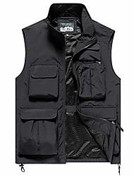 cheap -vest men waterproof outdoor vest breathable fishing vest with many pockets utility vest black asia 2xl / eu 54