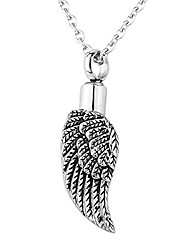 cheap -Diamond Angel Charm Pendant Cremation Urn Jewelry Memorial Ashes Necklace