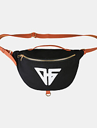 cheap -unisex canvas couple sporty casual large capacity shoulder bag chest bag
