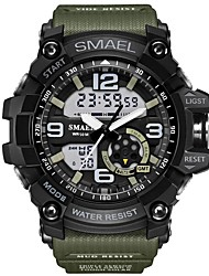 cheap -SMAEL Men's Unisex Sport Watch Fashion Watch Military Watch Digital Water Resistant / Waterproof Analog - Digital Black / Gold Black / Blue Black / Silver / Two Years / Japanese / Silicone / Alarm