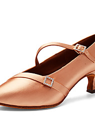 cheap -Women's Ballet Shoes Modern Shoes Heel Slim High Heel Brown Buckle Adults'