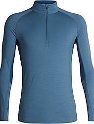 cheap -Men's 200 Zone Long Sleeve Half Zip Base-Layer-Tops, Granite Blue/Prussian Blue, XXL