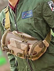 cheap -men canvas camouflage outdoor tactical sport riding waist bag shoulder bag chest bag
