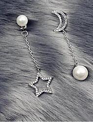 cheap -Women's Drop Earrings Mismatch Earrings Drop Precious Fashion Imitation Pearl Earrings Jewelry White For Christmas Halloween Street Gift Date 1 Pair
