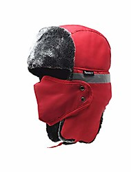 cheap -Winter Bomber Trapper Hats Ushanka - Men Women Russian Trooper Ear Flaps Hunting Face Masks Ski Snow Cold Weather Fur Mens Caps Clothes Red