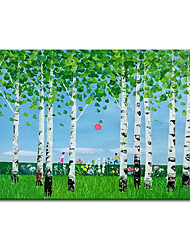 cheap -100% Hand-Painted Contemporary Art Oil Painting On Canvas Modern Paintings Home Interior Decor Abstract Forest Art Painting Large Canvas Art(Rolled Canvas without Frame)