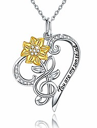 cheap -silver sunflower necklaces - 14k gold plated sunflowers in vase inspirational sunflowers pendant stocking stuffers christmas gifts for women