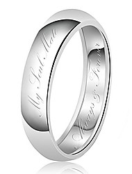 cheap -6mm My Soul Mate Always & Forever Engraved Classic Sterling Silver Plain Wedding Band Ring