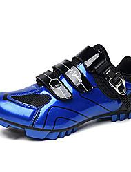 cheap -gogodoing men's mtb cycling shoes outdoor sport bicycle shoes self-locking professional racing road bike shoes mountain bike shoe blue