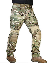cheap -Men's Hiking Cargo Pants Tactical Pants with Knee Pads Breathable Autumn / Fall Camo / Camouflage Bottoms for Hunting Training Combat Jungle Python Desert Python CP camouflage 28 30 32 34 36
