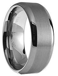 cheap -8mm tungsten carbide men women brushed polished wedding band ring size 9