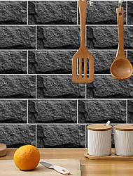 cheap -imitation retro ceramic tile kitchen sticker waterproof and oil-proof hetite flake self-adhesive decorative wall sticker 15cm*30cm*6pcs
