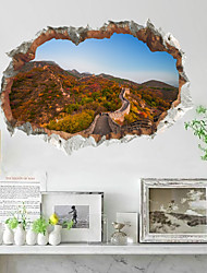 cheap -3D Great Wall Outer Space Moon Decoration Paste Hole Wall Can Be Removed From The Self-adhesive Wall Paste