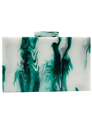 cheap -Women's Bags Acrylic Evening Bag Chain Color Block Plain Oil Painting Party Date Evening Bag 2021 Handbags Blue Green