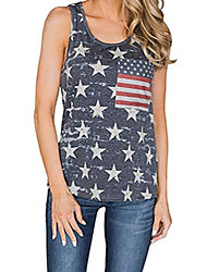 cheap -Independence Day Vest T shirt USA American Flag Stars and Stripes Tops Camouflage Red Camouflage Blue Star blue
