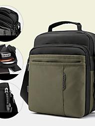 cheap -men oxford multi-layers anti-theft waterproof casual crossbody bag chest bag sling bag