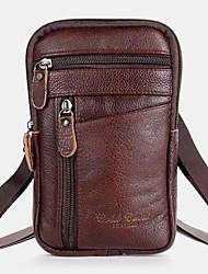 cheap -men genuine leather multi-carry anti-theft 6.5 inch phone bag crossbody bag waist bag sling bag