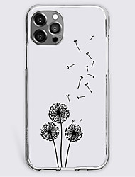 cheap -dandelion fashion case for apple iphone 12 iphone 11 iphone 12 pro max unique design protective case shockproof back cover tpu