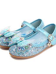 cheap -Girls' Flats Princess Shoes PU Little Kids(4-7ys) Big Kids(7years +) Daily Walking Shoes Rhinestone Bowknot Sequin Blue Pink Silver Spring Fall
