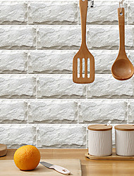cheap -imitation retro ceramic tile kitchen sticker waterproof and oilproof rice white crystal rock flake self-adhesive decorative wall sticker 15cm*30cm*6pcs