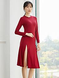 cheap -Activewear Dress Split Solid Women's Training Performance Long Sleeve High Modal
