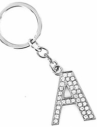 cheap -alphabet keyring a-z initials letter key ring shiny silver key chain (gold)