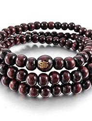 cheap -Men,Women's 6mm Wood Bracelet Link Wrist Necklace Tibetan Buddhist Red Sandalwood Bead Prayer Buddha Mala