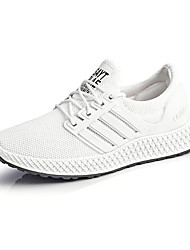 cheap -Women's Trainers Athletic Shoes Flat Heel Round Toe Casual Daily Mesh Solid Colored White Black