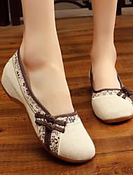 cheap -Women's Modern Shoes Heel Flat Heel Blue Brown Buckle Adults'