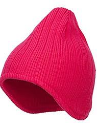 cheap -Rib Knit Ear Flap Beanie - Magenta OSFM