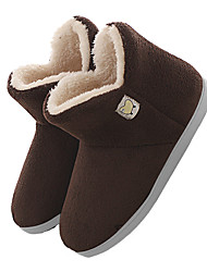 cheap -winter mens slipper boots fuzzy slippers house shoes (10, coffee)